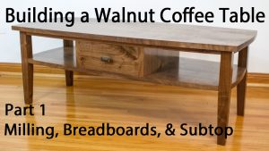 Building a Walnut Coffee Table - Breadboard and Subtop Joinery