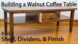 Building a Walnut Coffee Table - Shelf and Divider Joinery