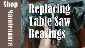 Replacing Table Saw Arbor Bearings
