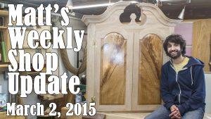Matt's Weekly Shop Update - Mar 2 2015